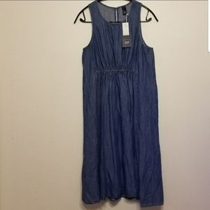 Gap Maternity lyocell chambray sleeveless dress